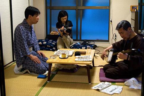 Le tournage chez Kiyotayu